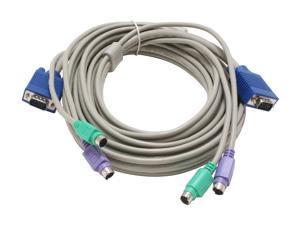 LINKSKEY 10 ft. 3 IN 1 PS/2 KVM Cable C-KVM-10