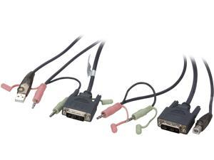 IOGEAR 6 ft. Single Link DVI-D USB KVM Cable G2L7D02U