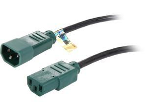 Tripp Lite Model P004-004-GN 4 ft. 18 AWG Power Cord w/ Green Connectors