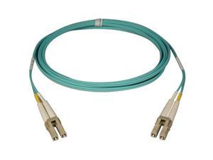 Tripp Lite N820-25M 10Gb Duplex Multimode 50/125 OM3 LSZH Fiber Patch Cable, (LC/LC) - Aqua, 25M (82-ft.)
