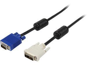 Tripp Lite P556-010 Black Connector A: DVI-A Connector B: HD15 (MALE) DVI to VGA Cable (DVI Male to HD15 Male)