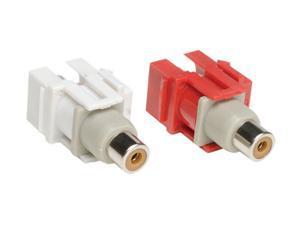 Tripp Lite A050-000-KJ Red / White Audio Keystone Snap-in Module Kit (R,W)