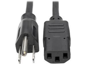 Tripp Lite Universal Computer Power Cord, 10A, 18AWG (NEMA 5-15P to IEC-320-C13), 15-ft. (P006-015)