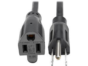 Tripp Lite Standard Power Extension Cord, 13A, 16AWG (NEMA 5-15P to NEMA 5-15R), 1-ft. (P024-001-13A)