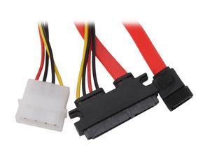 BYTECC SATA-SP118 1.5 ft. Sata and Sata Power 7+15pin Cable, for Sata HDD, Sata OD