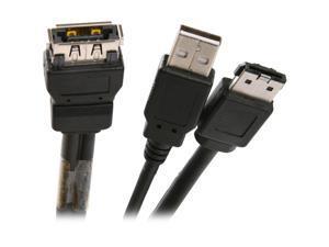 BYTECC USATA-118UE 1.5 ft. USB + eSATA to USB/eSATA Cable