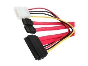 """BYTECC Model SAS2927 25"""" Serial Attached SCSI (SAS) 29pin to 2x7pin Sata and Power Cord Cable"""