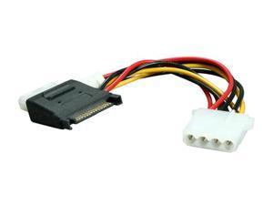 BYTECC SATA-2LP4F 5 in. SATA Power Input 15pin to MOLEX 4pin + Floppy Power Adapter Cable