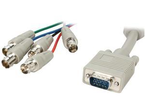 BYTECC HD15M/5BNCF-1 1 ft. HD15 to BNCx5 Cable, Male to Female, Beige