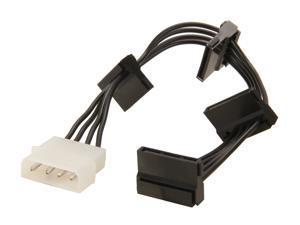 BYTECC SATA4-POWER 4 Pins Molex Connector to 4 Serial ATA Power Cable