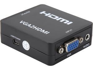 BYTECC HM106N VGA to HDMI, GANA 1080P Full HD Mini VGA to HDMI Audio Video Converter Adapter Box With USB Cable and 3.5mm Audio Port Cable Support HDTV for PC Laptop Display Computer Mac Projector