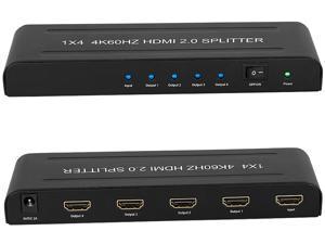 BYTECC HM2-SP104K Ultra Slim 1x4 HDMI 2.0 / HDCP 2.2 4K 60Hz HDMI Splitter