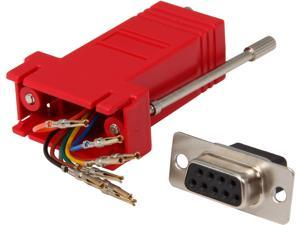C2G 02944 RJ45 to DB9 Female Serial RS232 Modular Adapter, Red