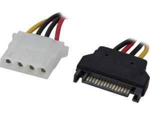 6 in. Serial ATA 15P M To LP4 F Power CBL