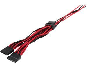 Corsair CP-8920190 2.46 ft. (0.75 m) Premium Individually Sleeved SATA Cable, Type 4 (Generation 3)