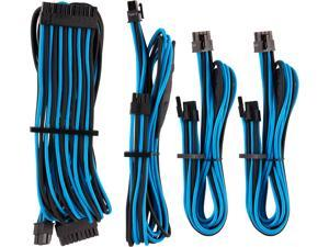 Corsair CP-8920221 Premium Individually Sleeved PSU Cables Starter Kit Type 4 Gen 4 - Black/Blue