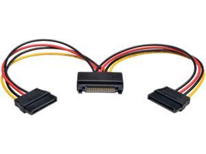 "Tripp Lite Model P947-06N-2P15 6"" 15-Pin Serial ATA (SATA) Power Y Splitter Cable Adapter Male to Female"