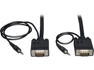 Tripp Lite P504-035 35 ft. VGA Coax Monitor Cable with Audio, High Resolution cable with RGB Coax (HD15 and 3.5mm M/M)