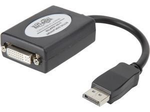 Tripp Lite DisplayPort to DVI Active Cable Adapter, DP 1.2, Converter for DP to DVI (M/F), 1920 x 1200/1080p, 6 in. (P134-06N-DVIACT)