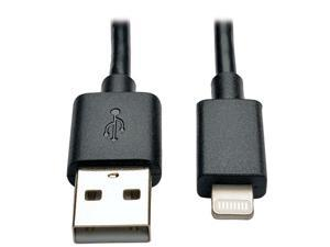 Tripp Lite M100-10N-BK Black MFi Certified Lightning to USB Cable Sync Charge Apple iPhone iPod iPad