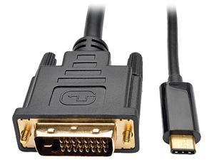 Tripp Lite USB C to DVI Adapter Converter Cable 1080p Type C to DVI 16ft (U444-016-D)