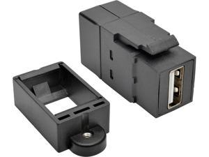Tripp Lite U060-000-KP-BK USB 2.0 All-in-One Keystone/Panel Mount Coupler (F/F), Black