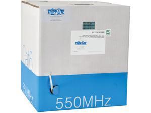 Tripp Lite Cat6 Gigabit Bulk Solid-Core PVC Cable, White, 1000 ft. (N222-01K-WH)