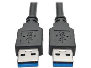 Tripp Lite 6 ft. USB 3.0 SuperSpeed A/A Cable (M/M), 28/24 AWG, 5 Gbps, Black, 6' (U320-006-BK)