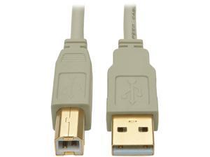 Tripp Lite 15 ft. USB 2.0 Hi-Speed A/B Cable (M/M), 28/24 AWG, 480 Mbps, Beige, 15' (U022-015-BE)