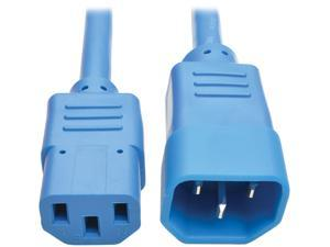 Tripp Lite Model P004-003-ABL 3 ft. Standard Computer Power Extension Cord, 10A, 18 AWG (IEC-320-C14 to IEC-320-C13) Male to Female