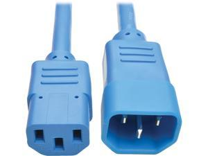 Tripp Lite Model P005-002-ABL 2 ft. Heavy-Duty Power Extension Cord, 15A, 14 AWG (IEC-320-C14 to IEC-320-C13) Male to Female