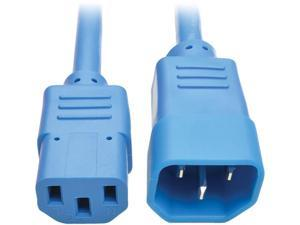 Tripp Lite Model P004-002-ABL 2 ft. Standard Computer Power Extension Cord, 10A, 18 AWG (IEC-320-C14 to IEC-320-C13) Male to Female