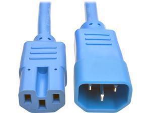 Tripp Lite Heavy-Duty Computer Power Cord, 15A, 14 AWG (IEC-320-C14 to IEC-320-C15), Blue, 6 ft. (P018-006-ABL)