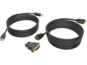 Tripp Lite 10 ft. HDMI/DVI/USB KVM Cable Kit, USB A/B Keyboard Video Mouse (P782-010-DH)