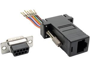 Tripp Lite DB9 to RJ45 Modular Serial Adapter M/F RS-232 RS-422 RS-485 (P440-89FM)
