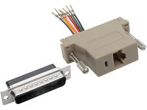 Tripp Lite DB25 to RJ45 Modular Serial Adapter M/F RS-232 RS-422 RS-485 (P440-825FM)