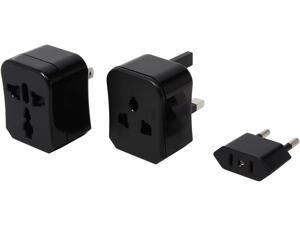 Kanex Travel Bud International 3-in-1 Universal AC Wall Converter for US, UK, EU and AU (INTADPBLK)