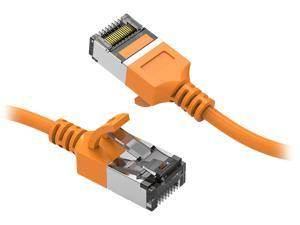Nippon Labs 60CAT8-0.5-30OR Cat8 Ethernet Cable 0.5 feet Cat.8 U/FTP Slim Ethernet Network Cable Orange 30AWG – Latest 40Gbps 2000Mhz RJ45 Patch Cord