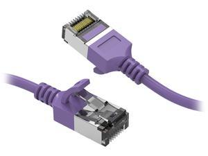 Nippon Labs 60CAT8-0.5-30PU Cat8 Ethernet Cable 0.5 feet Cat.8 U/FTP Slim Ethernet Network Cable Purple 30AWG – Latest 40Gbps 2000Mhz RJ45 Patch Cord