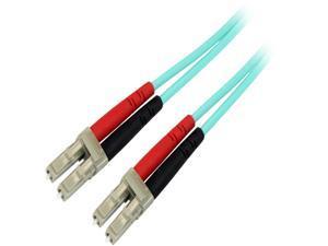 StarTech.com 450FBLCLC5 Aqua OM4 Duplex Multimode Fiber – 16 ft / 5m – 100 Gb – 50/125 – OM4 Fiber – LC to LC Fiber Patch Cable