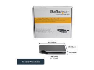 StarTech.com CDPVDHDMDPSG USB-C Multiport Video Adapter - Aluminum - USB Type C to VGA / 4K HDMI/Mini DisplayPort/DVI - USB C Adapter - Space Gray