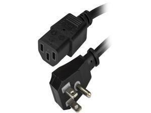 StarTech.com PXTF10110 Power Cord - 10 ft / 3m - NEMA 5-15P to C13 Power Cord - Flat - Computer Power Cord - Power Cable - Power Supply Cord