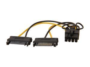 StarTech.com SATPCIEX8ADP 6 in. 6in SATA Power to 8 Pin PCI Express Video Card Power Cable Adapter