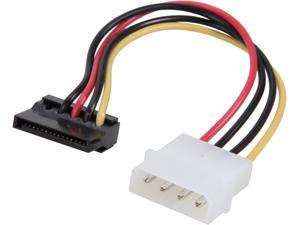 StarTech.com SATAPOWADPL 6 in. 4 Pin Molex to Left Angle SATA Power Cable Adapter