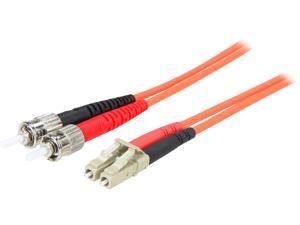 StarTech.com 50FIBLCST2 6.6 ft. 2m Multimode 50/125 Duplex Fiber Patch Cable LC - ST Male to Male