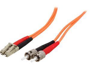 StarTech.com 50FIBPLCST3 9.8 ft [3 m] OFNP Plenum Multimode 50/125 Duplex Fiber Patch Cable LC - ST Male to Male