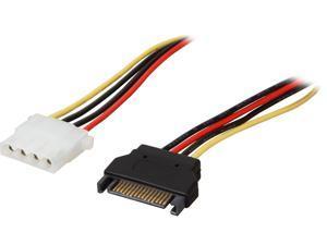StarTech.com LP4SATAFM12 1 ft. SATA to Molex LP4 Power Cable Adapter