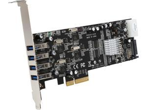 StarTech.com PEXUSB3S44V 4 Port PCI Express (PCIe) SuperSpeed USB 3.0 Card Adapter w/ 4 Dedicated 5Gbps Channels - UASP - SATA / LP4 Power
