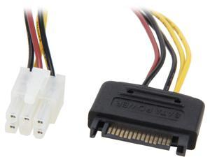 "Coboc SC-PWC-8-PCI 8"" SATA 15-pin Male to Graphics Video Card 6-pin PCI Express Card Power Cable"