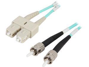 Coboc CY-OM3-ST/SC-2 6.56 ft. 10Gb Aqua Multimode 50/125 Duplex LSZH Fiber Patch Cable ST - SC,M-M